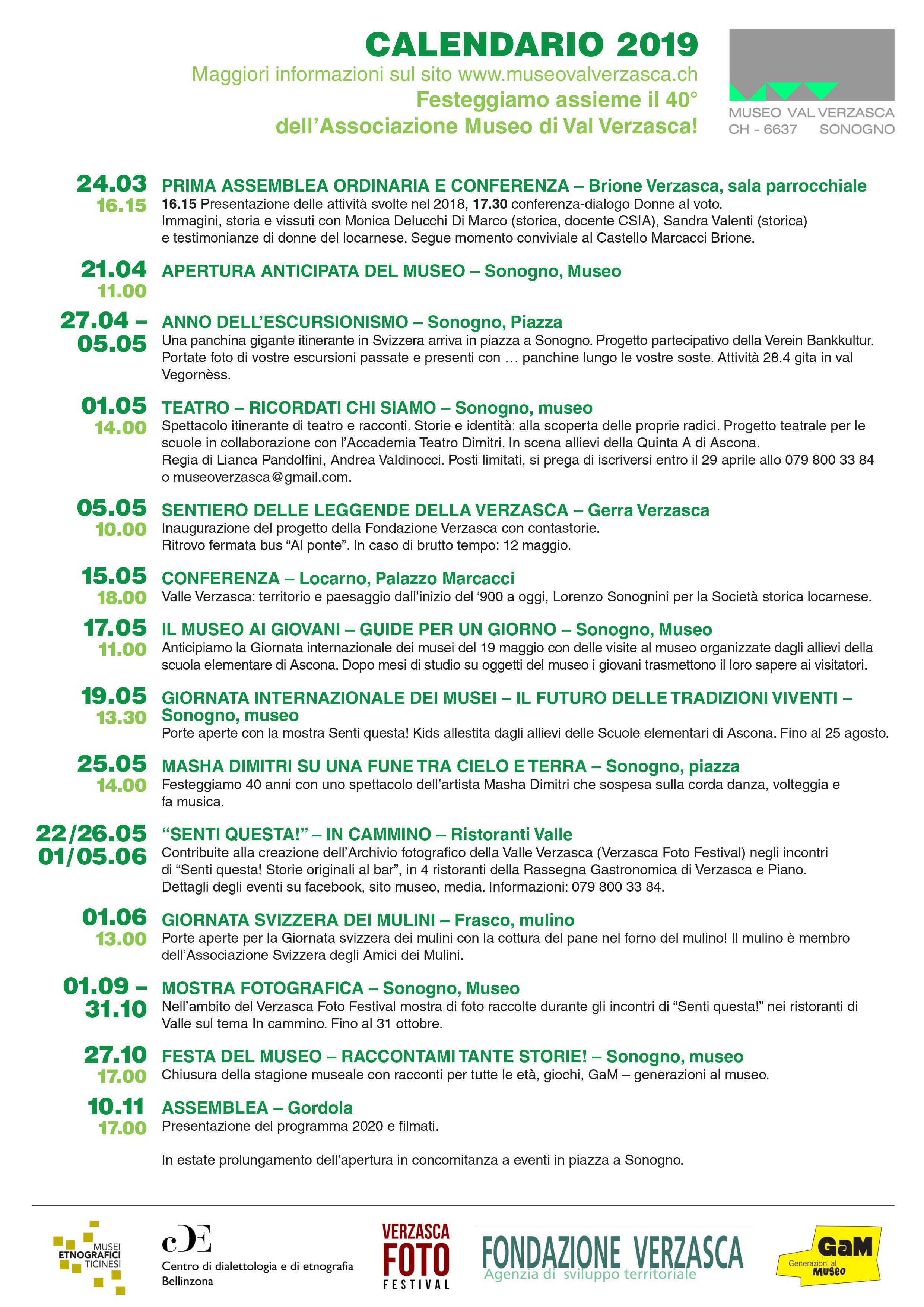 Calendario Anno 1974.Museo Di Val Verzasca Rete Etnografica Ticinese
